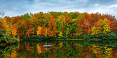 West Virginia, Babcock, Boley, Lake, Fall, Color