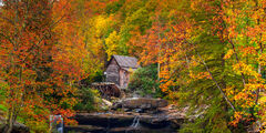 West Virginia, Babcock, GRist Mill, Fall, Color