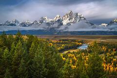 Wyoming, Grand Teton, National Park, Snake River, Fall Color