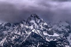 Wyoming, Grand Teton, National Park, Mountain, Storm, Clouds