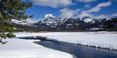 Wyoming, Yellowstone, Winter, River, Snow