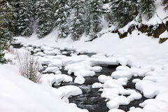 Wyoming, Yellowstone, River, Snow, Pillows, Winter