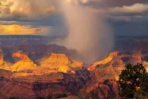 Arizona, Grand Canyon, Yavapai, Rain, Storm, limited edition, photograph, fine art, landscape