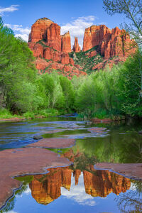 Arizona, Sedona, Red Rock, Cathedral Rock, Reflection, Oak Creek, limited edition, photograph, fine art, landscape, red rock