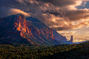 Arizona, Sedona, Courthouse, Butte, Sunrise, Red Rock, Clouds, limited edition, photograph, fine art, landscape