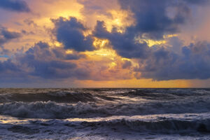 Florida, Tequesta, Tropical, Storm, Sunrise, Waves, Atlantic, Coast, Coral Cove