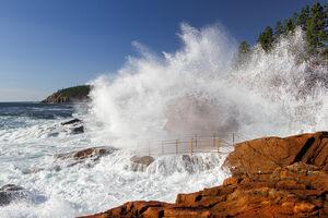 maine, acadia, ocean, thunder hole