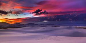 New Mexico, White Sands, desert, sunset