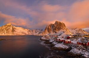 Norway, Lofoten, Renie, Morning