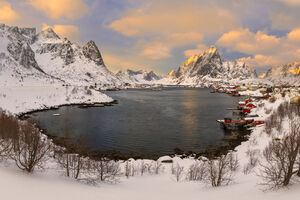 Norway, Lofoten, Reine, Morning, Snowfall, limited edition, photograph, fine art, landscape