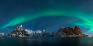 Norway, Lofoten, Islands, Hamnoy, Aurora, Night