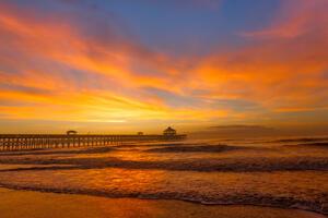 South Carolina, Folly Beach, Pier, Sunrise, limited edition, photograph, fine art, landscape