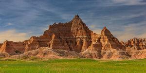 South Dakota, Badlands, National Park, Rock, Formations, Morning
