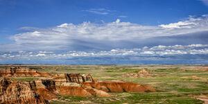 South Dakota, Badlands, Clouds