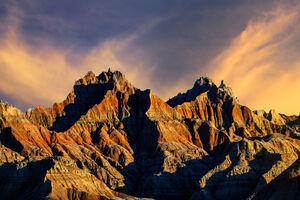 South Dakota, Badlands, National Park, Sunrise, Norbeck, Pass, Rock, Formation