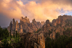 South Dakota, Custer, Sunrise, Needles, Needles Highway, Rock, Formations, limited edition, photograph, fine art, landscape