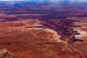 Canyonlands, National Park, Fog, Crevasse, Desert