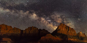 Utah, Milky Way, Zion National Park, The Watchman, limited edition, photograph, fine art, landscape