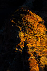 Utah, Zion, National Park, Kolob, Canyon, Fall, Shadows, limited edition, photograph, fine art, landscape