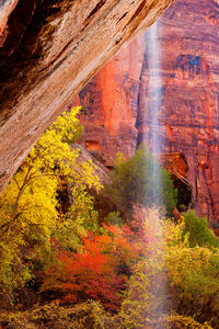 Utah, Zion Park, Waterfall, Fall, Color, Red Rock, limited edition, photograph, fine art, landscape