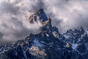 Wyoming, Grand Teton, National Park, Storm, Mountains