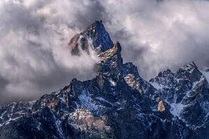 Wyoming, Grand Teton, National Park, Storm, Mountains