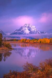 Wyoming, Grand Teton, National Park, Sunrise, Owbox, Bend, Snake River, Mount, Moran
