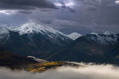 Colorado, McClure, Pass, Mountain, Fog, Fall, Color, limited edition, photograph, fine art, landscape