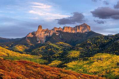 Colorado, Ridgway, Sunset, Courthouse, Rock, Fall, Color, limited edition, photograph, southwest colorado, fine art, landscape, fall color