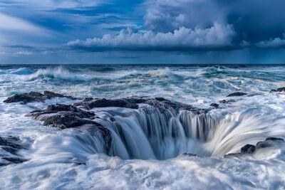 Oregon, Cape Perpetua, Thors Well, Storm, limited edition, photograph, fine art, landscape, coast