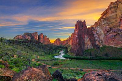 Oregon, Smith, Rock, Sunset, River, limited edition, photograph, fine art, landscape