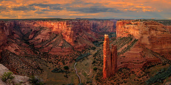 Arizona, Spider Rock, Canyon, Canyon de Chelly, Sunset, limited edition, photograph, fine art, landscape, red rock