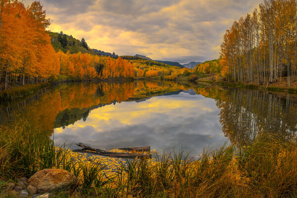 Colorado, Telluride, Cushman, Lake, Fall, Color, Reflection, limited edition, photograph, fine art, landscape, fall color