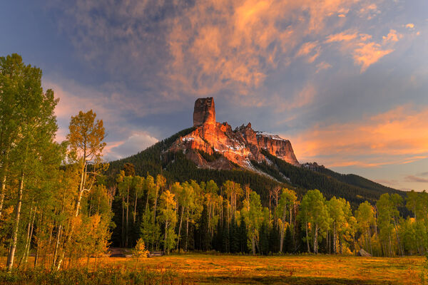 Colorado, Chimney Rock, Fall, Color, limited edition, photograph, fine art, landscape, fall color