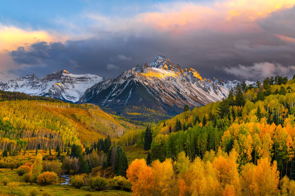 Colorado, San Juan, Mountains, Mount Sneffles, Fall, limited edition, photograph, southwest colorado, fine art, landscape