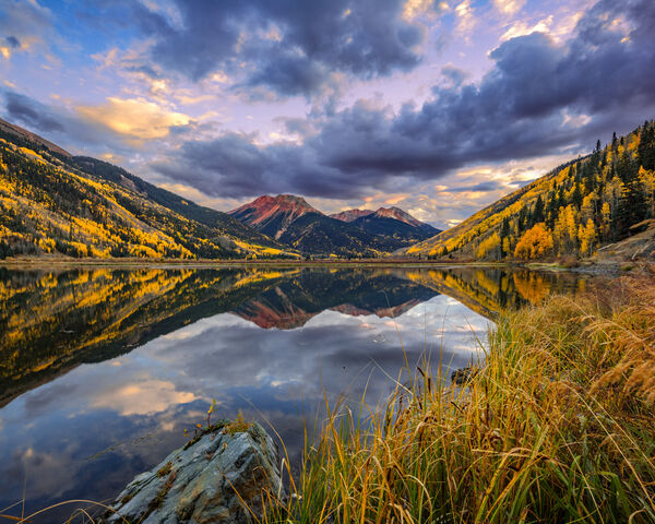 Colorado, Red Mountain, Crystal Lake, Reflection, Fall, limited edition, photograph, southwest colorado, fine art, landscape, fall color