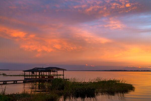 Florida, lake, sunrise, sunset, Istokpoga, limited edition, photograph, fine art, landscape