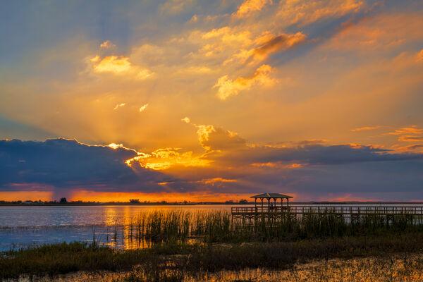Florida, Lake,, Sunset, limited edition, photograph, fine art, landscape