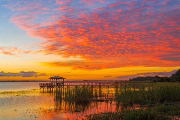 Florida, Lake, Sunset, Tohopekaliga, limited edition, photograph, fine art, landscape