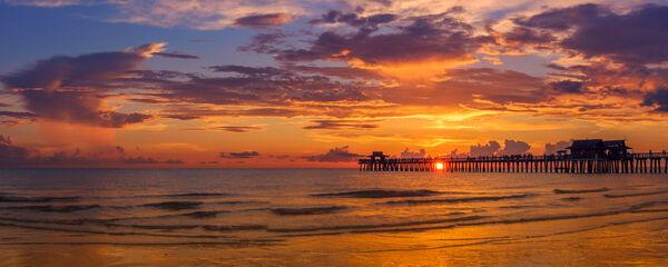 Florida, Naples, Naples Pier, sunset, limited edition, photograph, fine art, landscape, Culf coast