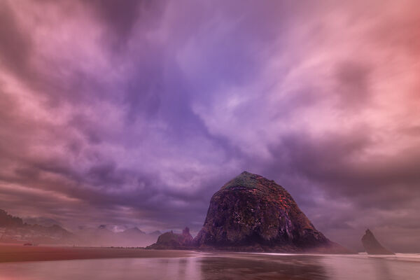 Oregon, Cannon, Beach, Sunrise, Pacific, Coast, Haystack Rock, limited edition, photograph, fine art, landscape