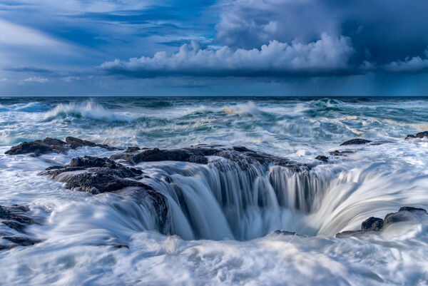 Oregon, Cape Perpetua, Thors Well, Storm, limited edition, photograph, fine art, landscape, coast