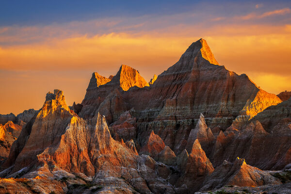 South Dakota, Badlands, Sunrise, Norbeck, Pass, Rock, Formation, limited edition, photograph, fine art, landscape