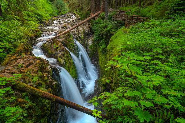 Washington, waterfall, Sol Duc, Falls, Rainforest, Olympic, National Park, Quileute