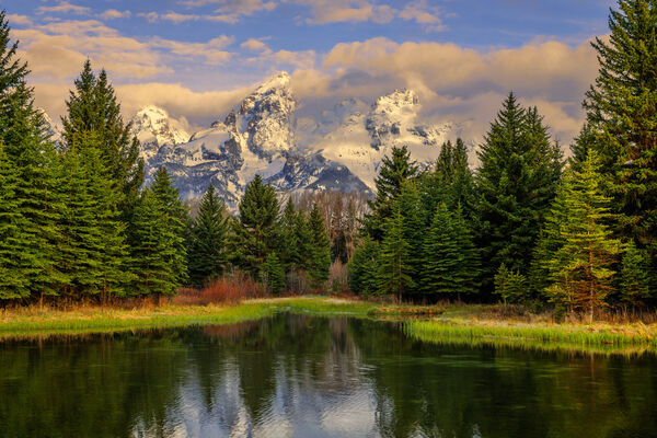 Wyoming, Teton, Grand Teton, Mountains, Sunlight, Schwabachers, Landing
