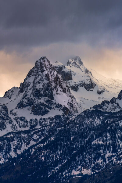 Wyoming, Grand Teton, National Park, Mountains, Sunrise, Winter, Storm, Clouds, limited edition, photograph, fine art, landscape