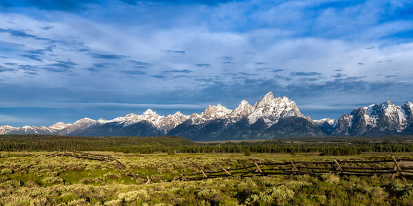 Wyoming, Tetons, Grand Tetons, Fence