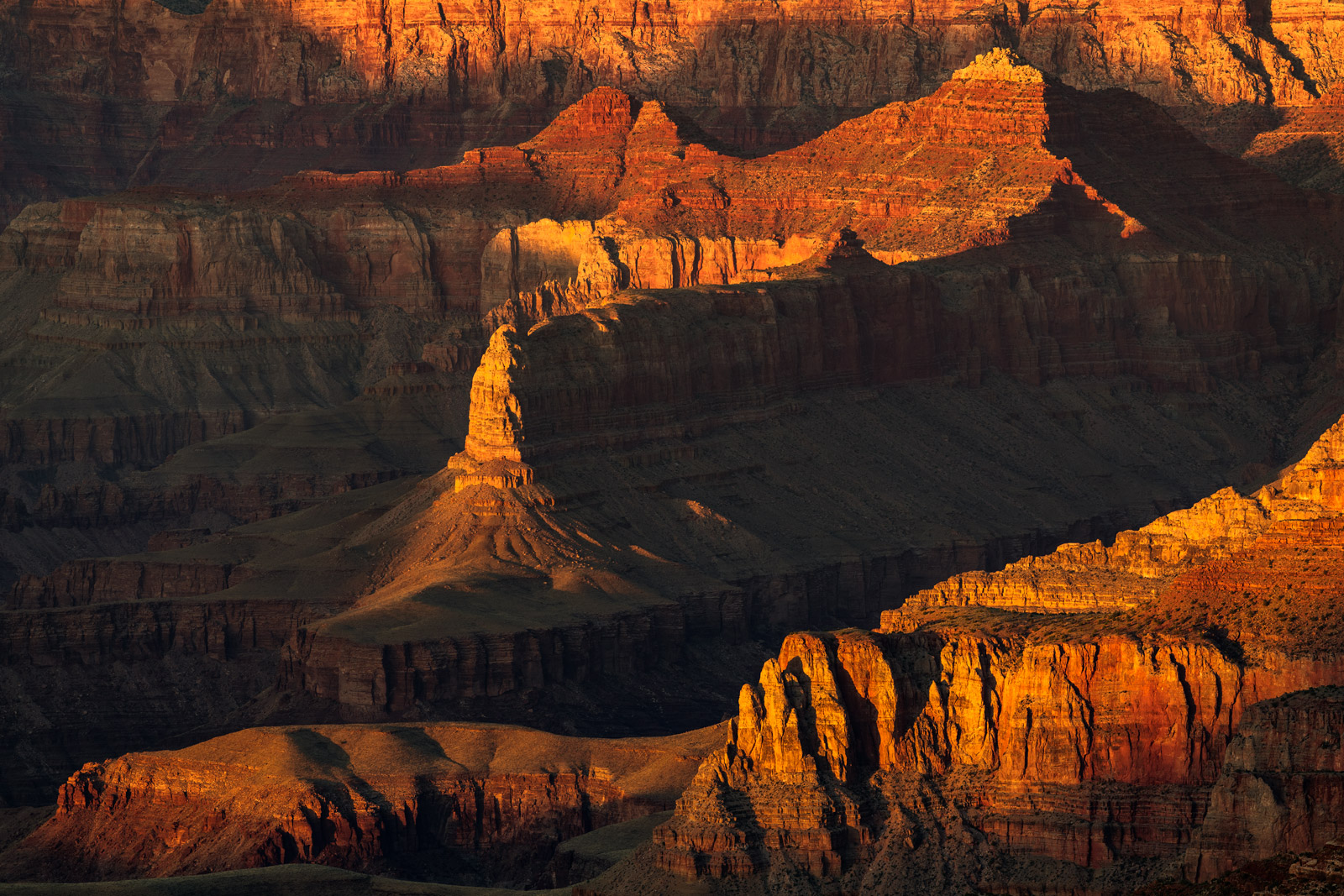 Arizona, Grand Canyon, National Park, Sunset, Shadows