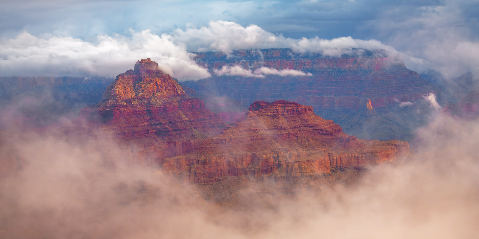 Arizona, Grand Canyon, Storms, Clouds, photo