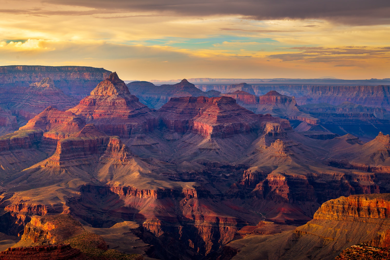 Arizona, Grand Canyon, Sunset, Grandview, Point
